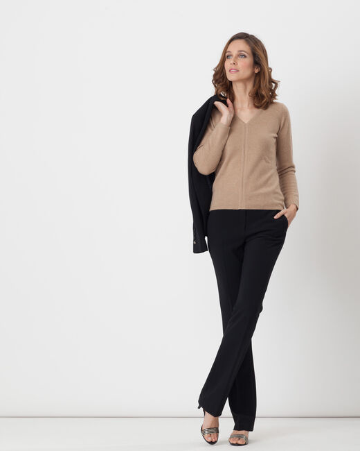 Heart taupe cashmere sweater (2) - 1-2-3