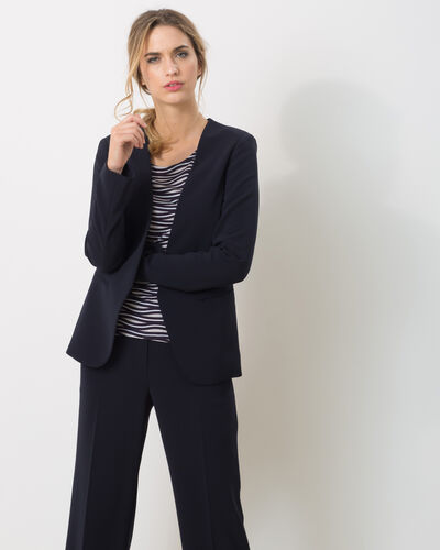 Maite belted navy blue jacket (2) - 1-2-3