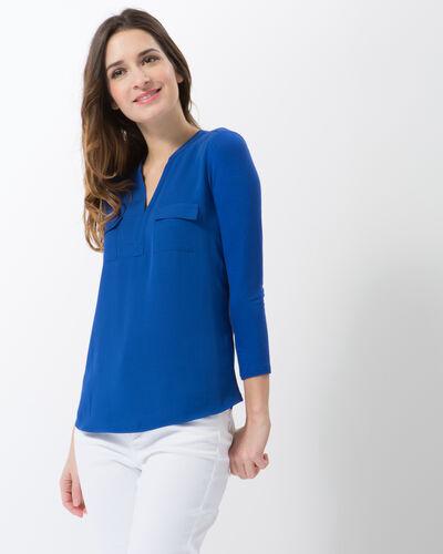 Tee-shirt bleu roi bi-matière Leden (1) - 1-2-3
