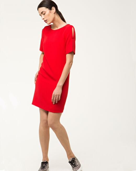 Robe rouge droite Bella (1) - 1-2-3