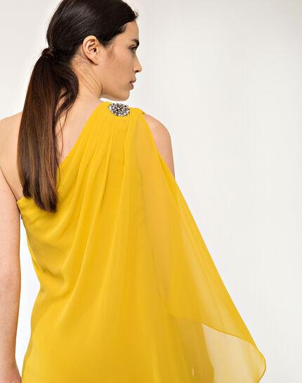 Féline one-shoulder yellow dress (5) - 1-2-3
