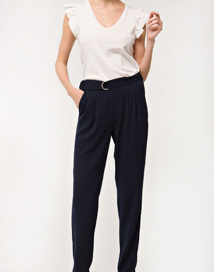 Douguy blue tapered trousers (6) - 1-2-3