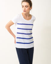Nori striped blue t-shirt royal blue.
