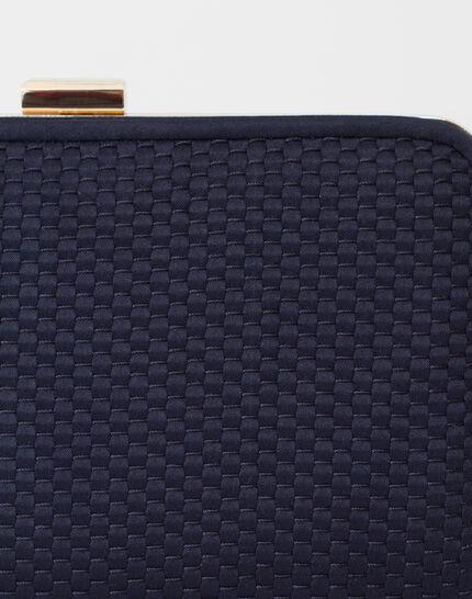Pauline navy blue clutch bag (4) - 1-2-3