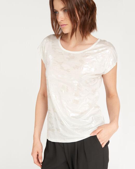 Nicoleta ecru T-shirt with print (1) - 1-2-3
