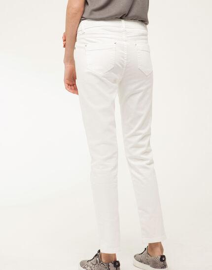 Inès 7/8 length studded white jeans (4) - 1-2-3