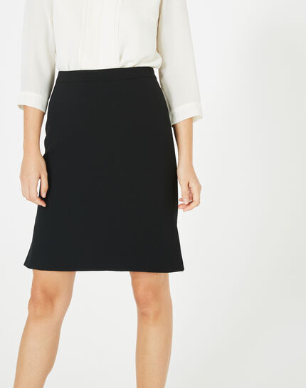 Fanfare straight-cut black tailored skirt PhotoZ | 1-2-3