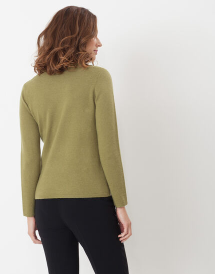 Heart olive green cashmere sweater (4) - 1-2-3