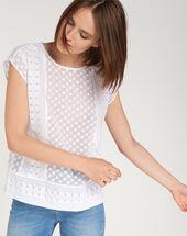 Ekta ecru embroidered shirt ecru.