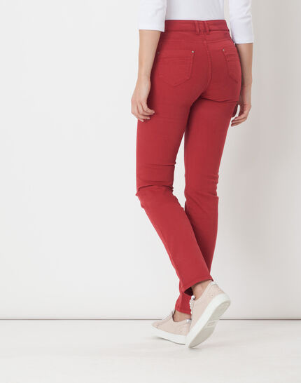 Victor straight-cut red trousers (4) - 1-2-3