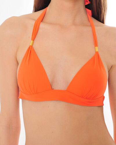 Haut de bikini triangle orange avec ornement doré Julie (2) - 1-2-3
