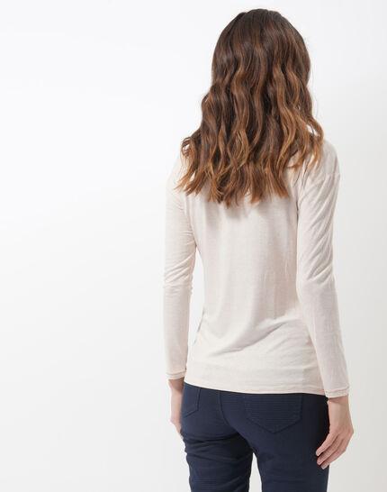 Noisette powder pink printed T-shirt (4) - 1-2-3