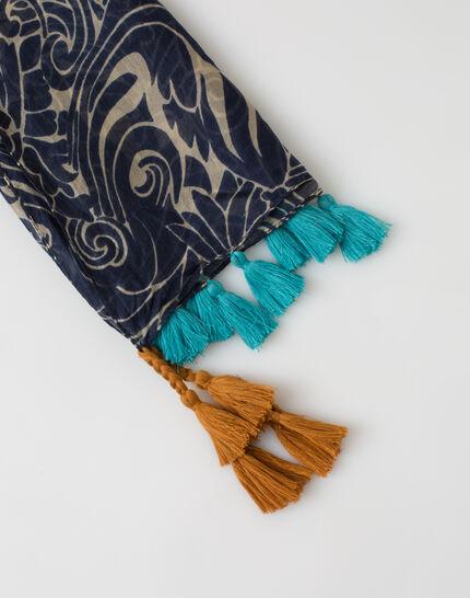 Scarlett silk printed scarf (3) - 1-2-3
