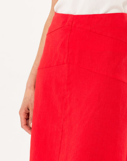 Clairon short red linen skirt (5) - 1-2-3