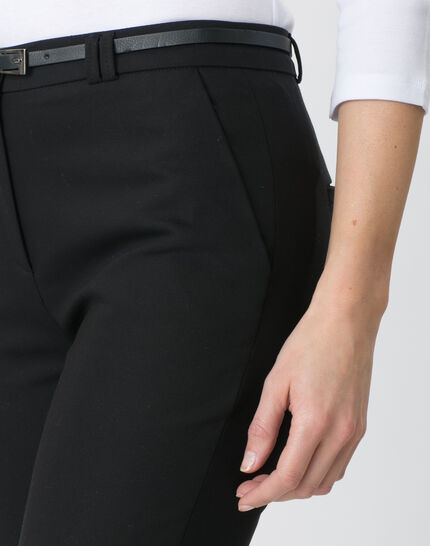 Pauline smart black trousers with belt (5) - 1-2-3