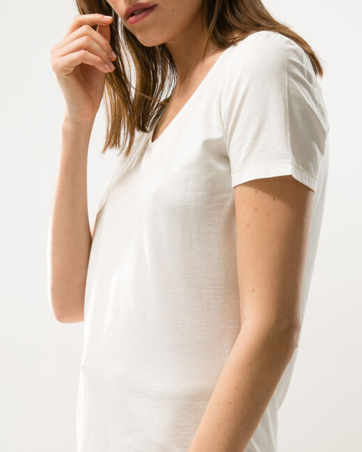 Tee-shirt écru Noon (1) - 1-2-3