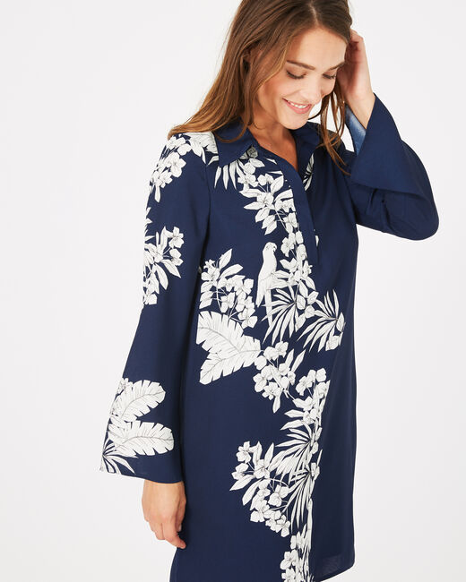 Azur floral printed shirt-dress (2) - 1-2-3