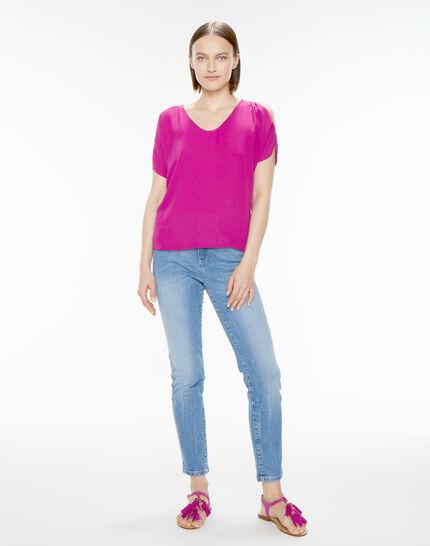 Tee-shirt fuchsia Nymphe (3) - 1-2-3