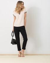 Pantalon noir 7/8ème carotte avec ceinture diane noir.