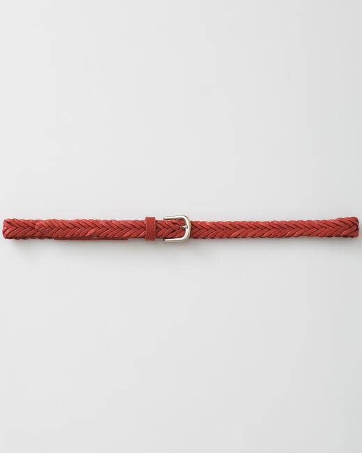 Ceinture tressée rouge en cuir Yoyo (1) - 1-2-3