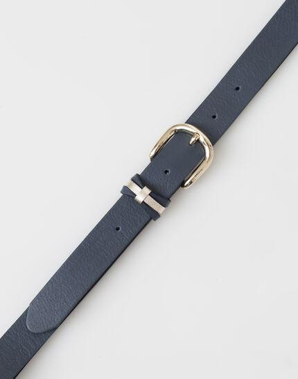 Yonka fine navy blue leather belt PhotoZ | 1-2-3
