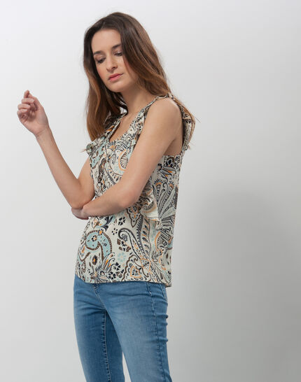 Ebahi floral printed top with frilly sleeves PhotoZ | 1-2-3