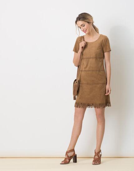 Boréal suede-style camel dress PhotoZ | 1-2-3