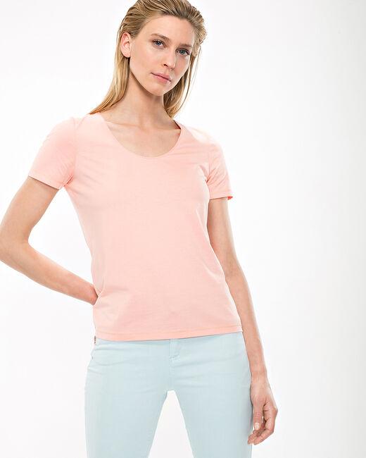 Tee-shirt abricot Noon (2) - 1-2-3