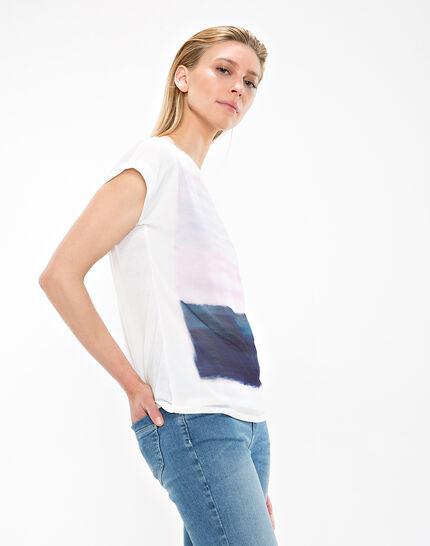 Nectar ecru printed T-shirt  (3) - 1-2-3