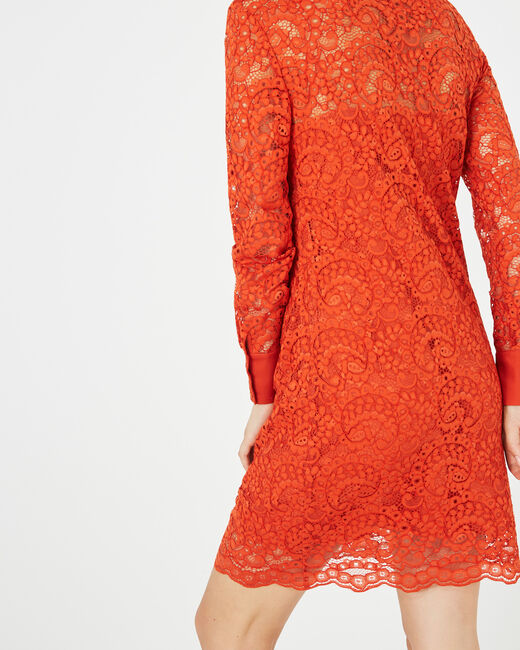 Amazone orange lace dress (1) - 1-2-3