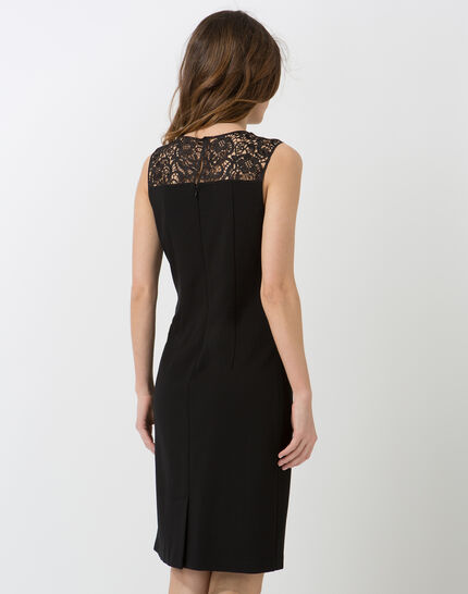 Calypso black dress with Swarovski-embellished neckline (4) - 1-2-3