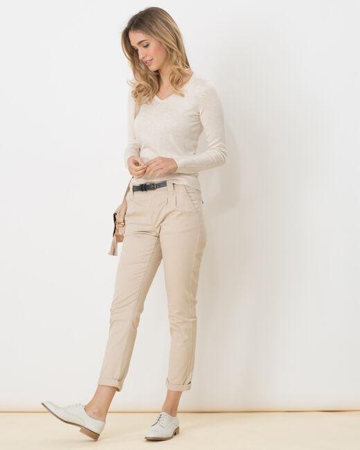 Pull beige à manches longues Honorine (2) - 1-2-3