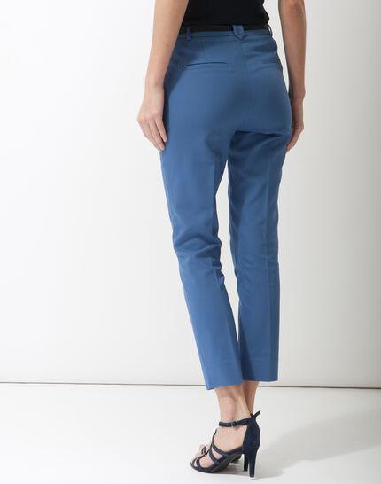 Pauline smart blue trousers with belt (4) - 1-2-3