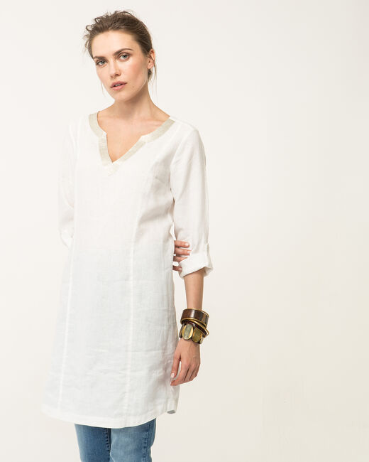 Blanche ecru linen dress (2) - 1-2-3