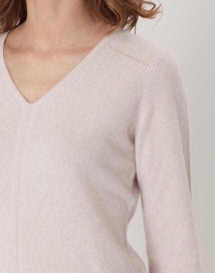 Heart powder pink cashmere sweater (5) - 1-2-3