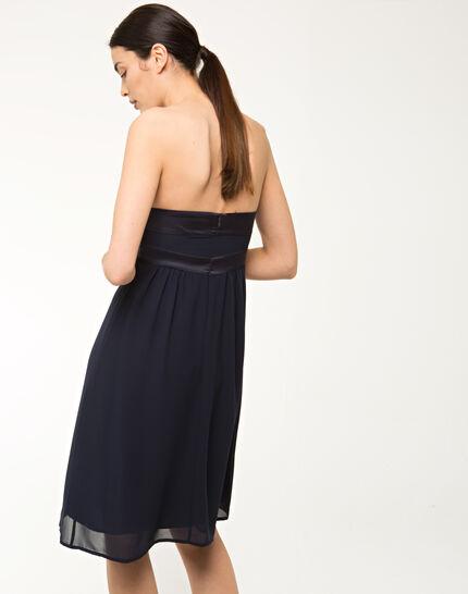 Fabiola navy blue bustier dress (3) - 1-2-3