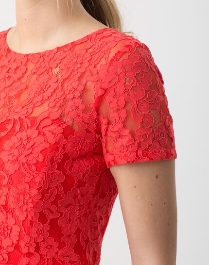 Friandise coral lace dress (4) - 1-2-3