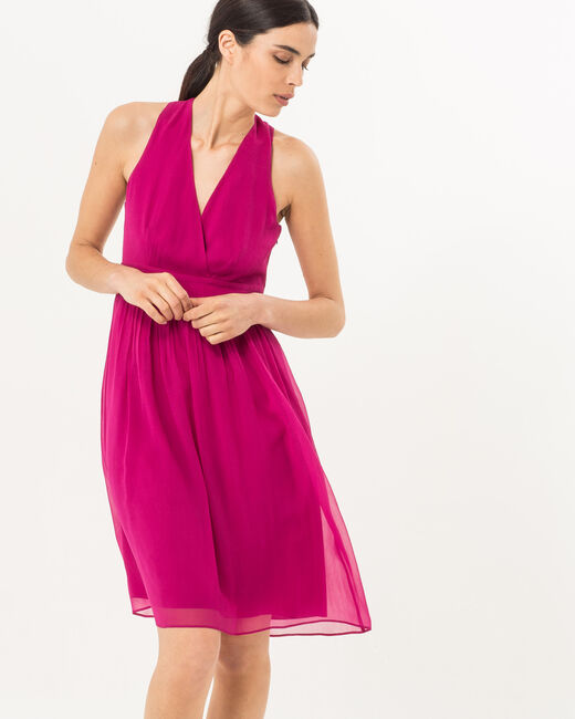 Florane pink silk dress with jewelled back (2) - 1-2-3
