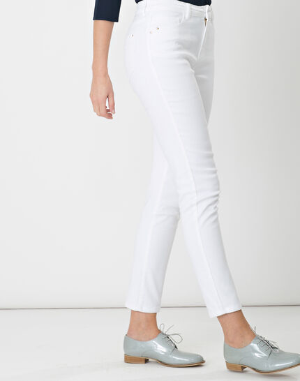 Oliver 7/8 white coated trousers (3) - 1-2-3