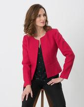 Allumette raspberry jacket with decorative fabric dark red.
