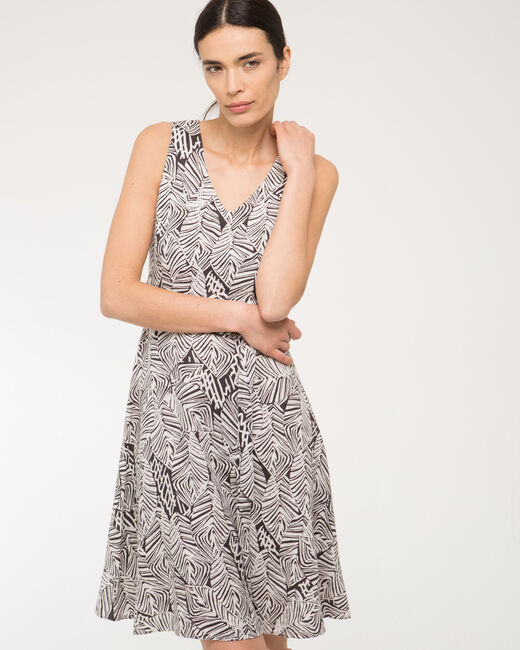 Babel printed black and white dress (2) - 1-2-3