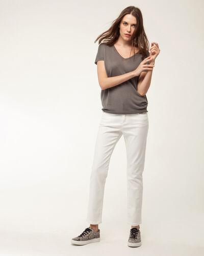 Hope khaki short-sleeved sweater (2) - 1-2-3
