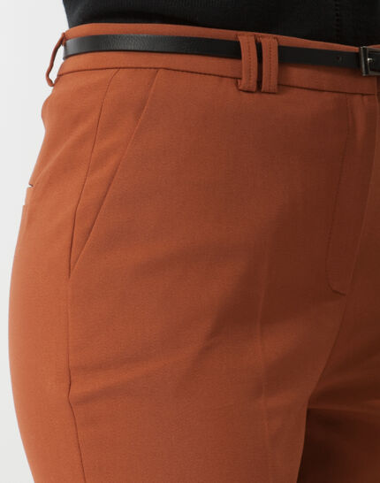 Pauline smart brown trousers with belt (5) - 1-2-3