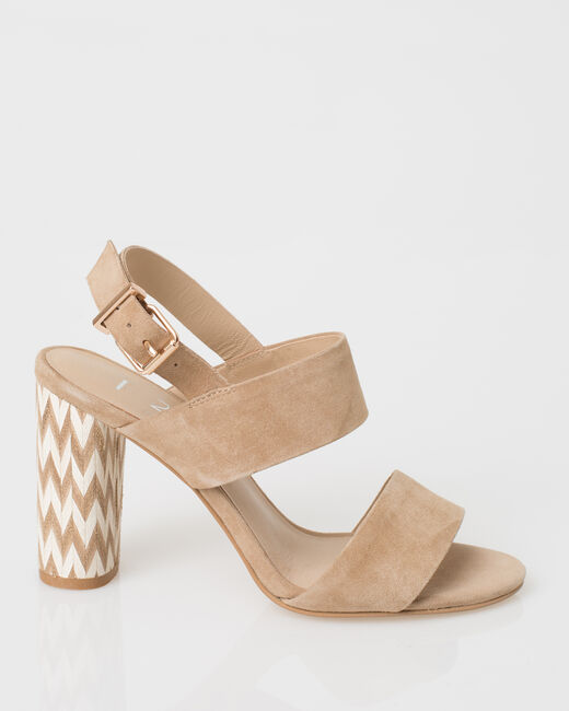 Joy beige leather open sandals (2) - 1-2-3