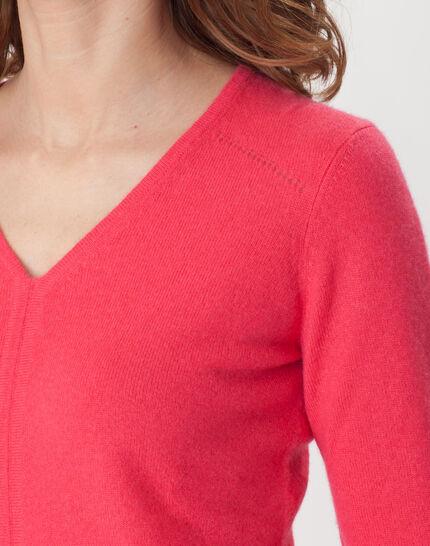 Heart fuchsia cashmere sweater (5) - 1-2-3