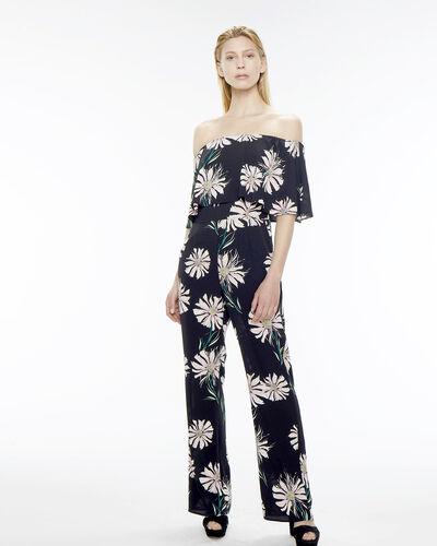 Combinaison noire imprimé fleuri Babiole (1) - 1-2-3