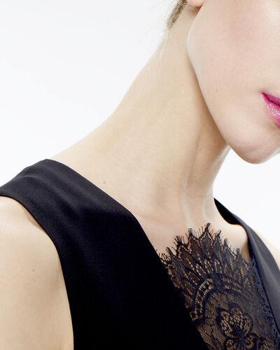Robe noire bi-matière Flocon (1) - 1-2-3
