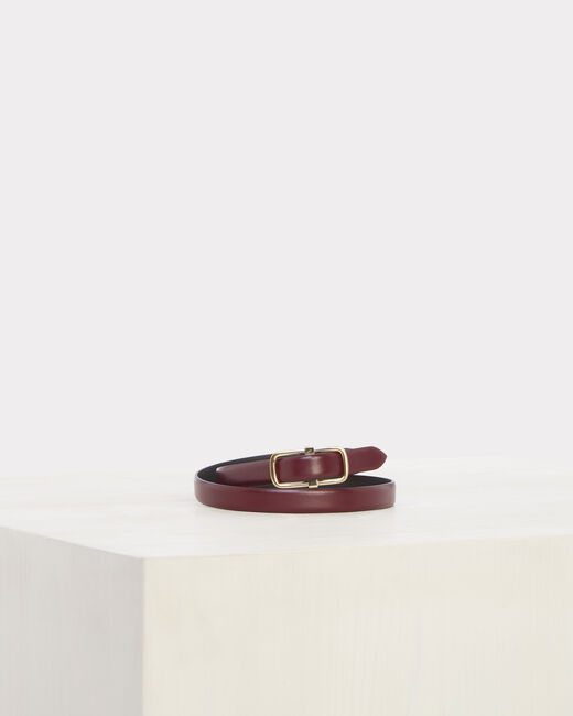 Orel thin burgundy leather belt (1) - 1-2-3