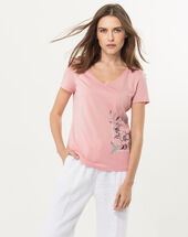 Ninoxe pink printed t-shirt light pink.