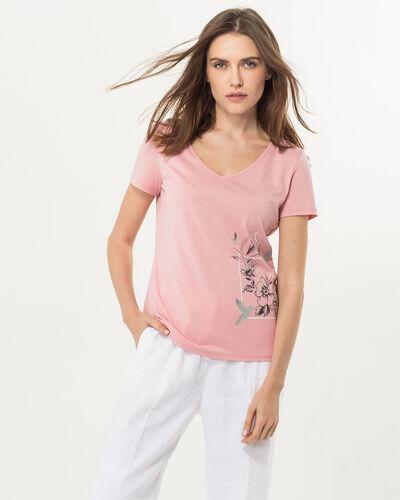 Tee-shirt rose imprimé Ninoxe (1) - 1-2-3